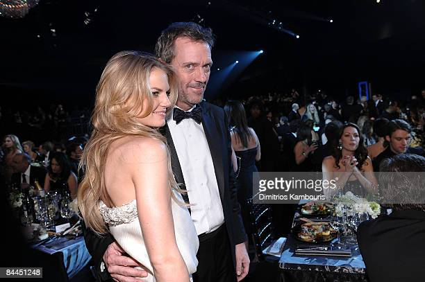 Actors Jennifer Morrison and Hugh Laurie attend the TNT/TBS broadcast of the 15th Annual Screen Actors Guild Awards at the Shrine Auditorium on...