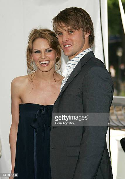 Actors Jennifer Morrison and Jesse Spencer attend the FOX 2007 Programming presentation at the Wollman Rink in Central Park on May17 2007 in New York...