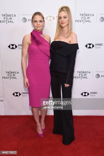 Actors Jennifer Morrison and Nicola Peltz attends the screening of 'Back Roads' during the Tribeca Film Festival at Cinepolis Chelsea on April 20...