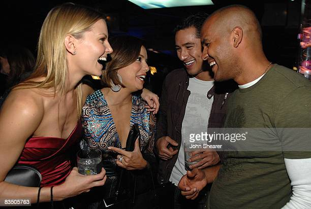 Actors Jennifer Morrison Eva Longoria Parker Mario Lopez and Amaury Nolasco attend the Blackberry Bold launch party at a private residence on October...