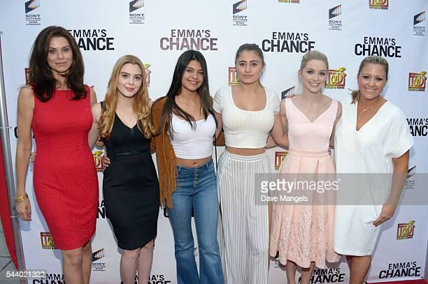 Actors Jennifer Taylor Shanna Strong Lia Marie Johnson Christina Robinson Amber Montana Greer Grammer and writer/director Anna Elizabeth James attend...