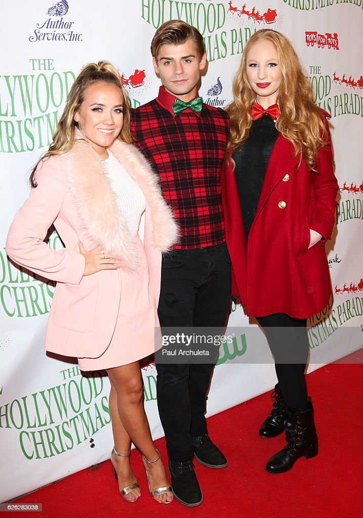 actors jennifer veal garrett clayton and elizabeth stanton attend the 85th annual hollywood christmas parade - Clayton Christmas Parade
