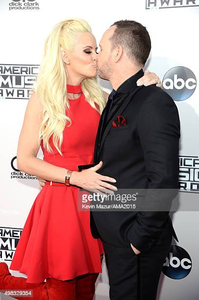 Actors Jenny McCarthy and Donnie Wahlberg attend the 2015 American Music Awards at Microsoft Theater on November 22 2015 in Los Angeles California