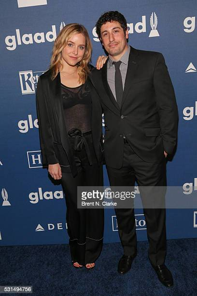 Actors Jenny Mollen and Jason Biggs attend the 27th Annual GLAAD Media Awards held at The Waldorf=Astoria on May 14 2016 in New York City