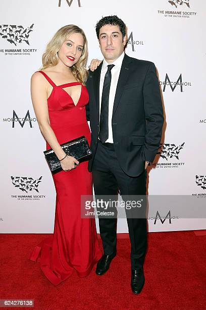 Actors Jenny Mollen and Jason Biggs attends The Humane Society of the United States Hosts Annual To The Rescue New York Saving Animal Lives at...