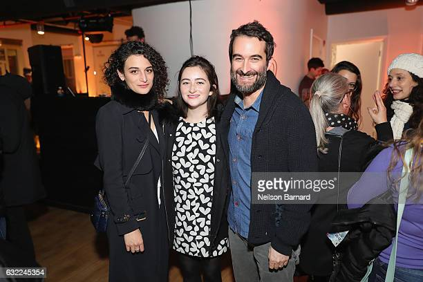 Actors Jenny Slate Abby Quinn and Jay Duplass attend the 'Landline' Party at The Acura Studio during Sundance Film Festival 2017 on January 20 2017...