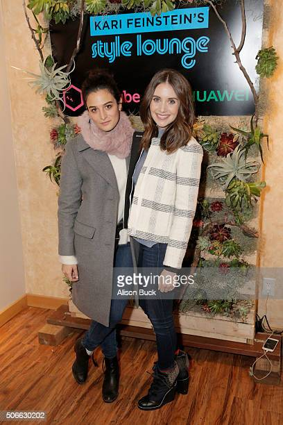 Actors Jenny Slate and Alison Brie attend Kari Feinstein's Style Lounge on January 24 2016 in Park City Utah