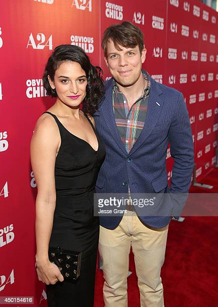 """Actors Jenny Slate and Jake Lacy attend the Screening of A24's """"Obvious Child"""" at the ArcLight Hollywood on June 5, 2014 in Hollywood, California."""