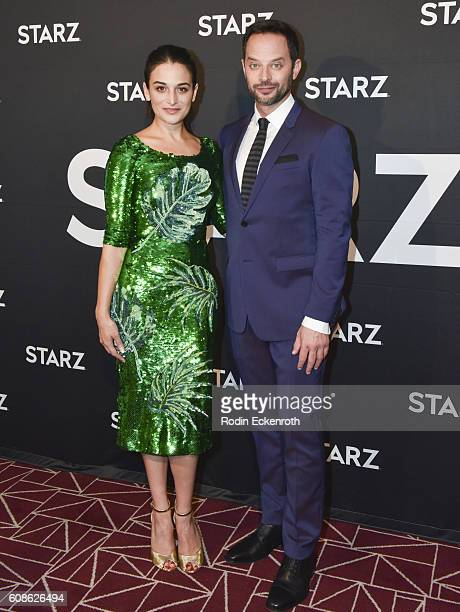 Actors Jenny Slate and Nick Kroll attend the screening of Starz Digital Media's 'My Blind Brother' at The London Hotel on September 19 2016 in West...