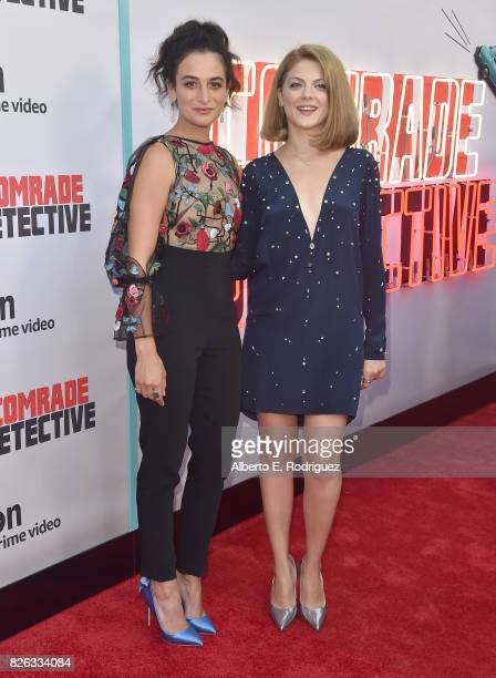 """Actors Jenny Slate and Olivia Nita attends the premiere of Amazon's """"Comrade Detective"""" at ArcLight Hollywood on August 3, 2017 in Hollywood,..."""