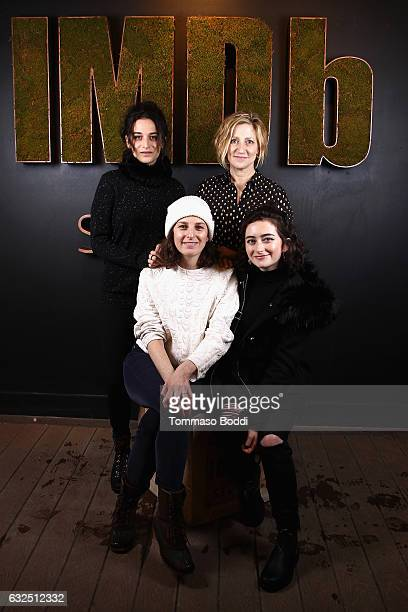 Actors Jenny Slate Edie Falco director/writer Gillian Robespierre and actor Abby Quinn of 'Landline' attend The IMDb Studio featuring the Filmmaker...