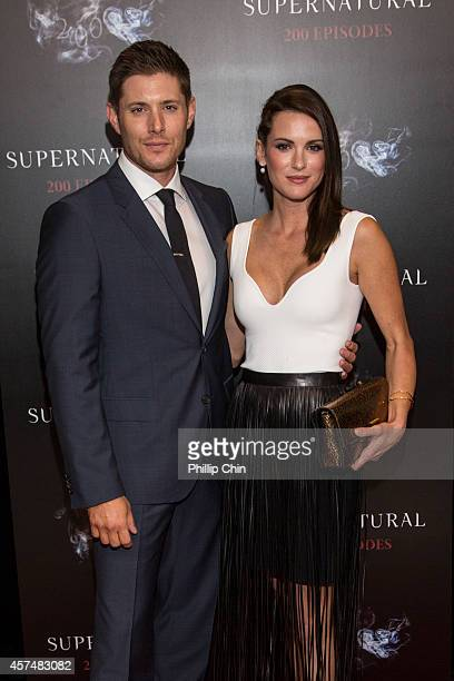 Actors Jensen Ackles and Danneel Ackles attend the Supernatural 200th episode celebration at the Fairmont Pacific Rim Hotel on October 18 2014 in...