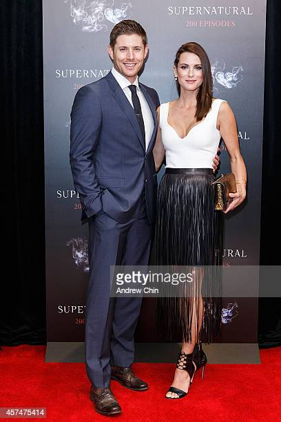 Actors Jensen Ackles and Danneel Ackles celebrate the 200th episode of 'Supernatural' at Fairmont Pacific Rim Hotel on October 18 2014 in Vancouver...
