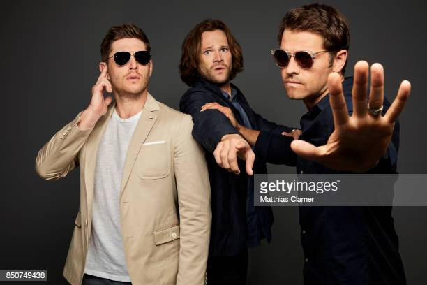 Actors Jensen Ackles Jared Padalecki And Misha Collins From Supernatural Are Photographed For Entertainment Weekly Magazine