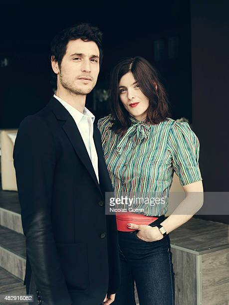 Actors Jeremie Elkaim and Valerie Donzelli are photographed on May 19 2015 in Cannes France