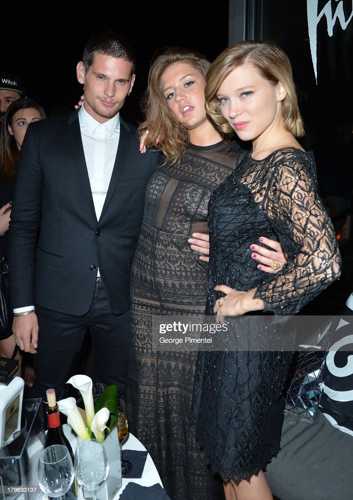 Actors Jeremie Laheurte, Adèle Exarchopoulos and Léa Seydoux attend the Interview Magazine, Sundance Selects and Mongrel Media celebrate the TIFF premiere screening of 'Blue is the Warmest Color' during 2013 Toronto International Film Festival on September 5, 2013 in Toronto, Canada.