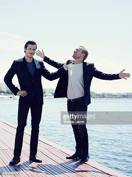 Actors Jeremie Renier and Gaspard Ulliel are photographed for Self Assignment on May 23 2014 in Cannes France