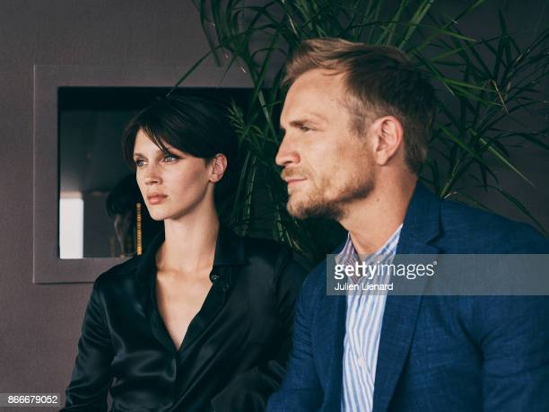 Actors Jeremie Renier and Marine Vacth are photographed for Self Assignment on May 2017 in Cannes France