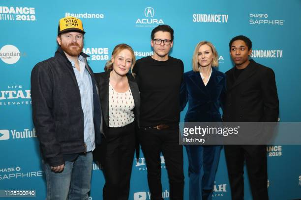 """Actors Jeremy Bobb, and Jennifer Ehle, Writer/director Alistair Banks Griffin, and actors Naomi Watts and Kelvin Harrison Jr attend the """"The Wolf..."""
