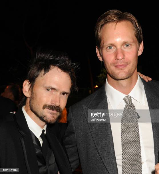 Actors Jeremy Davies and Alexander Skarsgard attend HBO's Official Emmy After Party at The Plaza at the Pacific Design Center on September 23 2012 in...