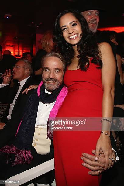 Actors Jeremy Irons and Devika Bhise attend the Opening Party during the Zurich Film Festival on September 24 2015 in Zurich Switzerland The 11th...