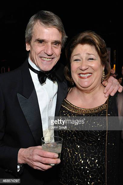 Actors Jeremy Irons and Margo Martindale attend the 20th Annual Screen Actors Guild Awards at The Shrine Auditorium on January 18 2014 in Los Angeles...