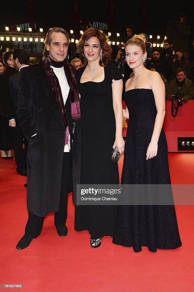 Actors Jeremy Irons, Martina Gedeck and Melanie Laurent attend the 'Night Train to Lisbon' Premiere during the 63rd Berlinale International Film Festival at the Berlinale Palast on February 13, 2013 in Berlin, Germany.