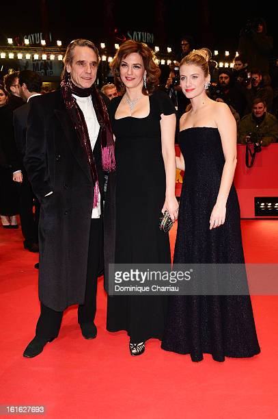 Actors Jeremy Irons Martina Gedeck and Melanie Laurent attend the 'Night Train to Lisbon' Premiere during the 63rd Berlinale International Film...