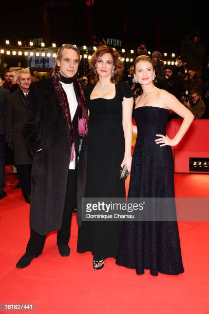 Actors Jeremy Irons Martina Gedeck and Melanie Laurent attends the 'Night Train to Lisbon' Premiere during the 63rd Berlinale International Film...