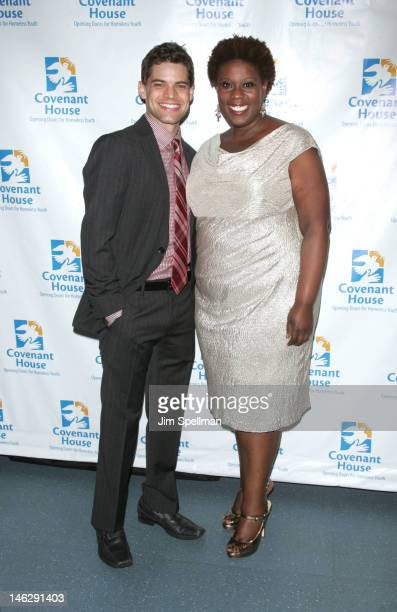 Actors Jeremy Jordan and Capathia Jenkins attend 2012 A Night Of Broadway Stars at Frederick P Rose Hall on June 12, 2012 in New York City.