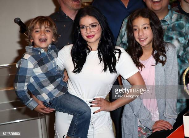 Actors Jeremy Maguire Ariel Winter and Aubrey AndersonEmmons attend the ABC celebration of the 200th episode of 'Modern Family' at Fox Studios on...