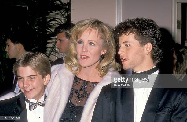 Actors Jeremy Miller Joanna Kerns and Kirk Cameron attend the Sixth Annual American Cinema Awards on January 6 1989 at Beverly Hilton Hotel in...