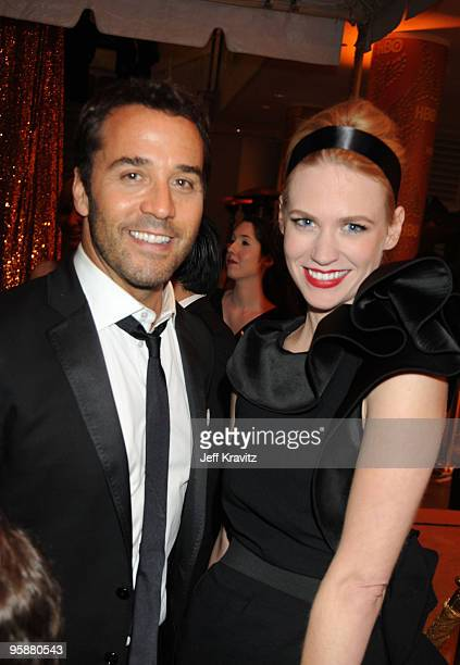 Actors Jeremy Piven and January Jones attend the 67th Annual Golden Globe Awards official HBO After Party held at Circa 55 Restaurant at The Beverly...