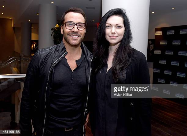 Actors Jeremy Piven and Laura Prepon attend Kari Feinstein's PreGolden Globes Style Lounge at the Andaz West Hollywood on January 8 2015 in West...