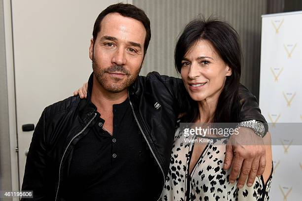Actors Jeremy Piven and Perrey Reeves attend Kari Feinstein's PreGolden Globes Style Lounge at the Andaz West Hollywood on January 8 2015 in West...