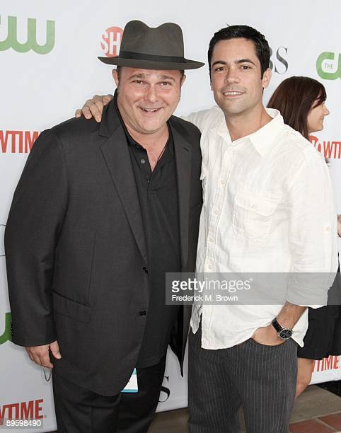 Actors Jeremy Ratchford and Danny Pino arrives at the CBS CW CBS Television Studio and Showtime TCA party at the Huntington Library on August 3 2009...