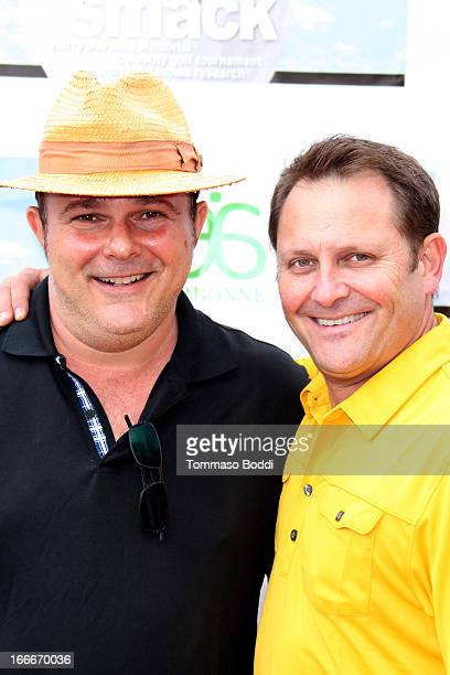 Actors Jeremy Ratchford and Kevin E West attended the 10th Annual Hack n' Smack Kerry Daveline Memorial Celebrity Golf Classic to benefit the UC...