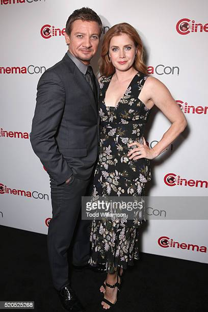Actors Jeremy Renner and Amy Adams attend the CinemaCon 2016 Gala Opening Night Event: Paramount Pictures Highlights its 2016 Summer and Beyond Films...