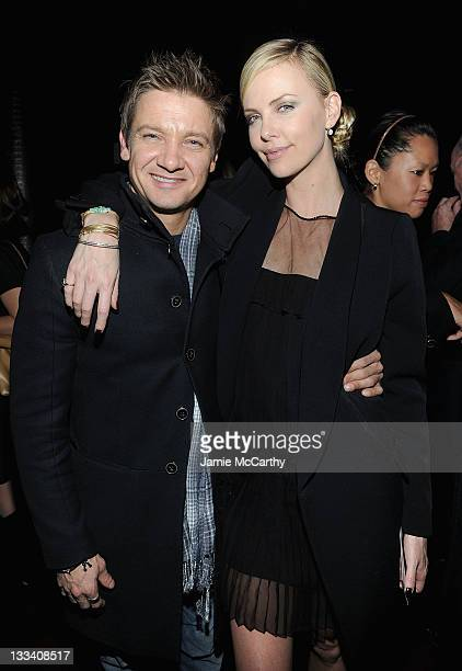 Actors Jeremy Renner and Charlize Theron attend the after party for the Cinema Society Dior Beauty screening of 'Young Adult' at the The Double Seven...