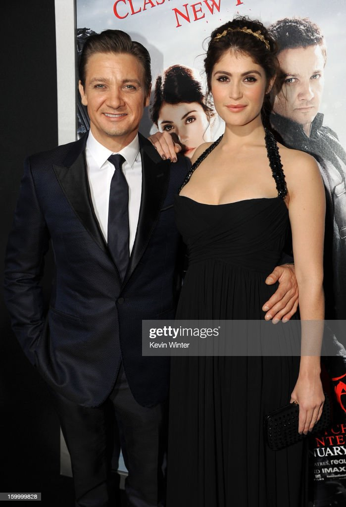 Actors Jeremy Renner and Gemma Arterton arrive for the Los Angeles premiere of Paramount Pictures' 'Hansel And Gretel Witch Hunters' at TCL Chinese Theatre on January 24, 2013 in Hollywood, California.