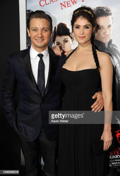 Actors Jeremy Renner and Gemma Arterton arrive for the Los Angeles premiere of Paramount Pictures' 'Hansel And Gretel Witch Hunters' at TCL Chinese...