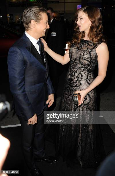 Actors Jeremy Renner and Pihla Viitala arrive for the Los Angeles premiere of Paramount Pictures' 'Hansel And Gretel Witch Hunters' at TCL Chinese...