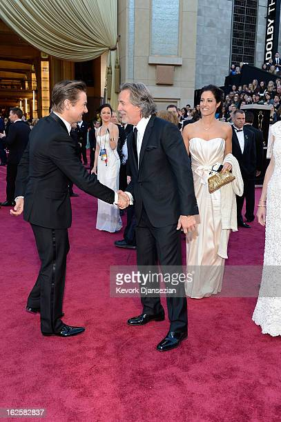 Actors Jeremy Renner Don Johnson and wife Kelley Phleger arrive at the Oscars at Hollywood Highland Center on February 24 2013 in Hollywood California