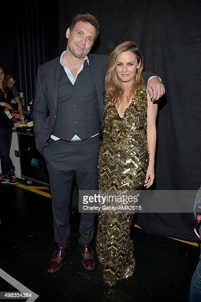 Actors Jeremy Sisto and Alicia Silverstone attend the 2015 American Music Awards at Microsoft Theater on November 22 2015 in Los Angeles California