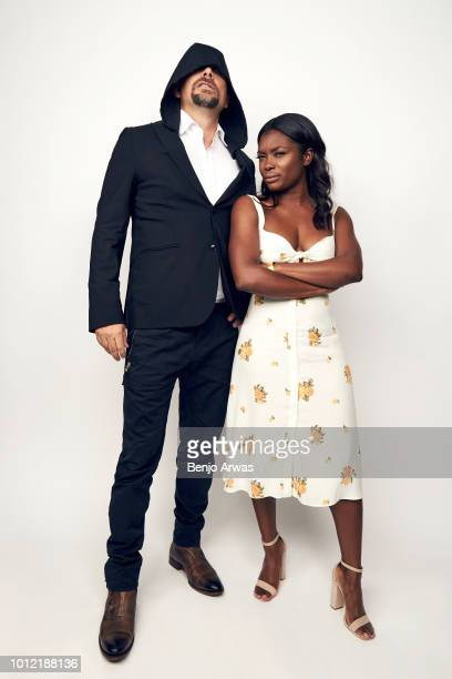 Actors Jeremy Sisto and Ebonee Noel of CBS's 'FBI' pose for a portrait during the 2018 Summer Television Critics Association Press Tour at The...