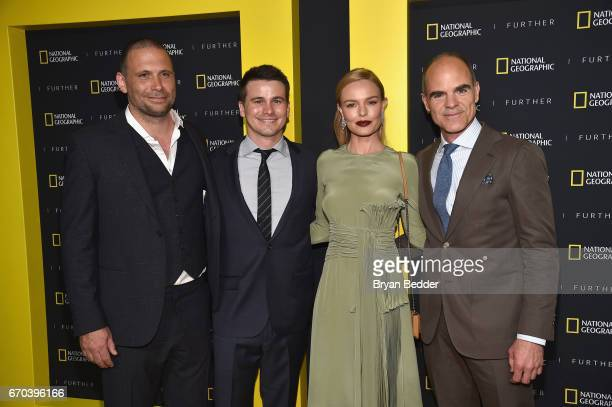 Actors Jeremy Sisto Jason Ritter Kate Bosworth and Michael Kelly at National Geographic's Further Front Event at Jazz at Lincoln Center on April 19...