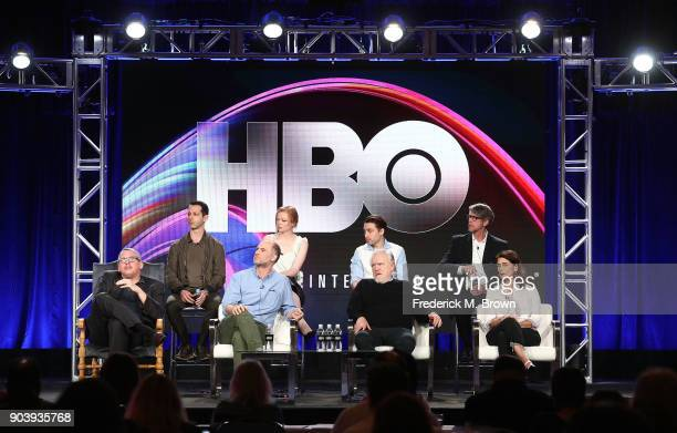 Actors Jeremy Strong Sarah Snook Kieran Culkin Alan Ruck executive producer/director of pilot Adam McKay creator/executive producer/showrunner Jesse...