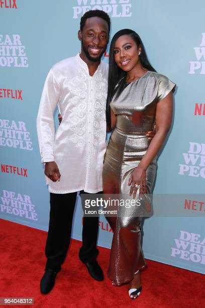 Actors Jeremy Tardy and Nia Jervier attends the Screening Of Netflix's Dear White People Season 2 Arrivals at ArcLight Cinemas on May 2 2018 in...