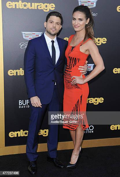 Actors Jerry Ferrara and Breanne Racano arrive at the Los Angeles premiere of 'Entourage' at Regency Village Theatre on June 1 2015 in Westwood...