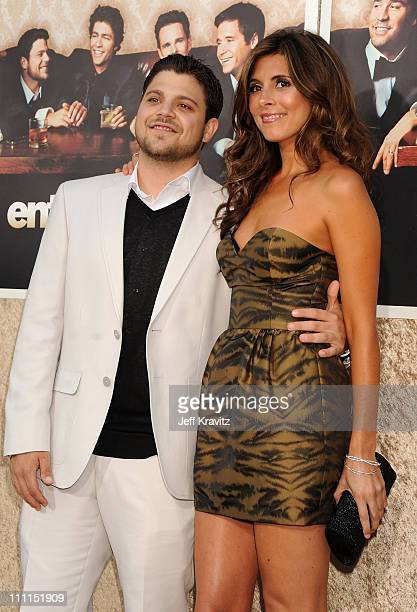 """Actors Jerry Ferrara and Jamie-Lynn Sigler arrive on the red carpet to HBO's official premiere of """"Entourage"""" Season 6 held at Paramount Studios on..."""